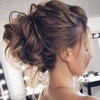Relaxed 'up' hairstyle